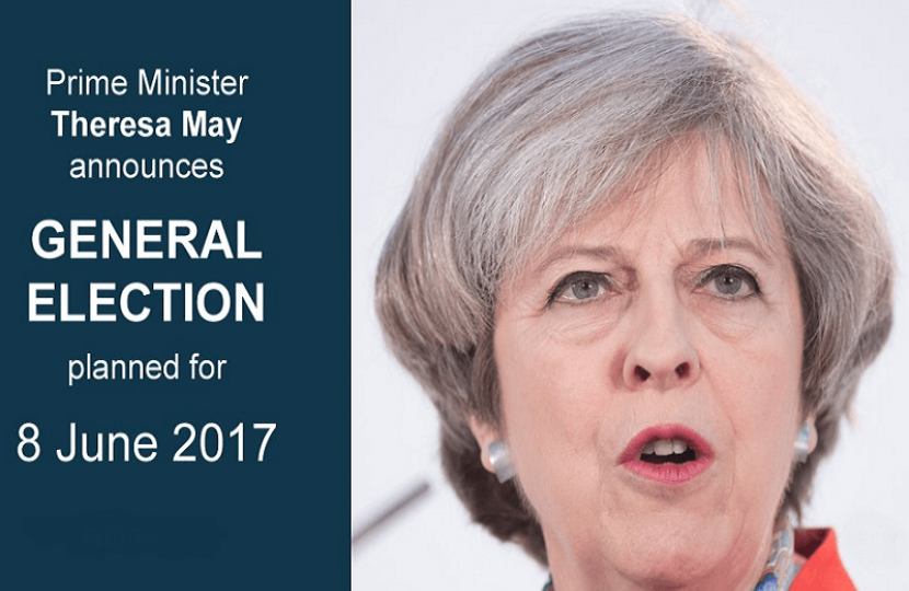 Statement: Theresa May seeks general election