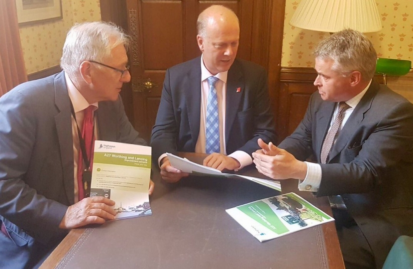 Local MPs welcome positive response from Transport Secretary about way ahead for A27 improvements
