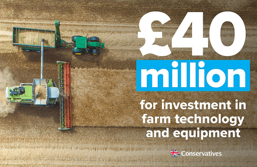 Investing £40m to help British farmers