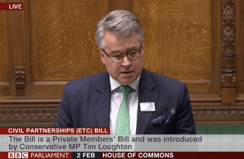 Tim Loughton MP presents Civil Partnerships, Marriages and Deaths (Registration Etc.) Bill