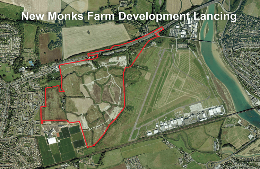 Requesting Communities Secretary to call-in New Monks Farm proposals
