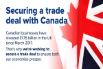 Securing a trade deal with Canada